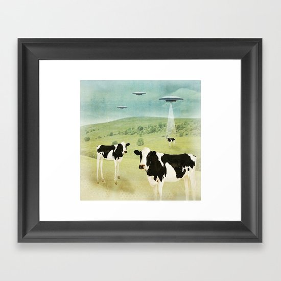 we all like burgers _ US AND THEM  Framed Art Print