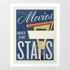 Movies Under the Stars Art Print