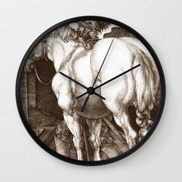 """Albrecht Dürer """"The Large Horse"""" Wall Clock"""