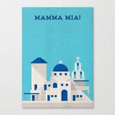 Mamma Mia Minimalist Poster Canvas Print
