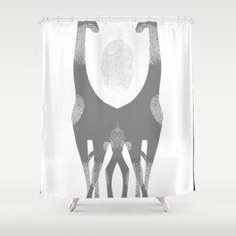 FINGER PRINT GIR Shower Curtain