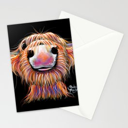 Scottish Highland Cow ' iRN BRoo ' by Shirley MacArthur Stationery Cards