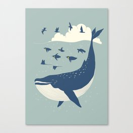 Fly in the sea Canvas Print