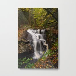 ENDERS FALLS AUTUMN CONNECTICUT WATERFALL LANDSCAPE PHOTOGRAPHY Metal Print