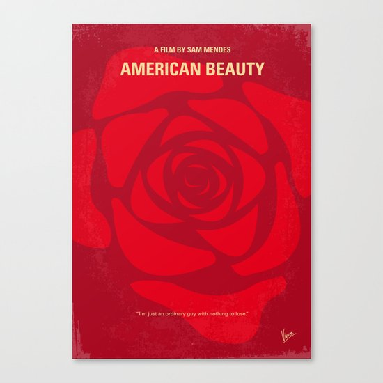 No313 My American Beauty minimal movie poster Canvas Print
