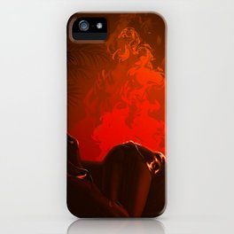 Midnight fire iPhone Case