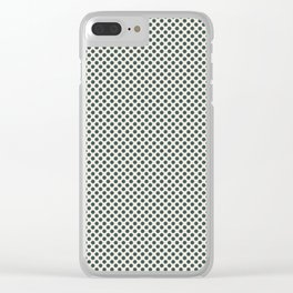 PPG Glidden Trending Colors of 2019 Night Watch PPG1145-7 Polka Dots on Horseradish Off White Clear iPhone Case