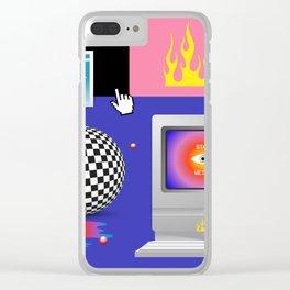 Retro Fantasy Clear iPhone Case