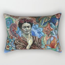 Frida Kahlo Portrait (8) Rectangular Pillow