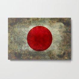 Flag of Japan Metal Print