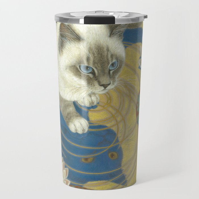 Blue bird Travel Mug