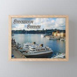 Stockholm Sweden Waterfront Travel Framed Mini Art Print