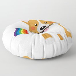LGBT Gay Pride Flag Corgi - Pride Women Gay Men Floor Pillow