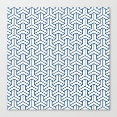 bishamon in monaco blue Canvas Print