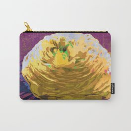 Yellow Ranunculus Buttercup Floral Art Carry-All Pouch