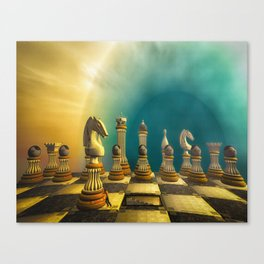 Fixing The Game Canvas Print