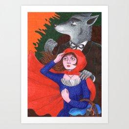 Preacher Wolf Art Print