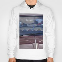 volkswagen Hoodies featuring volkswagen beetle car by gzm_guvenc