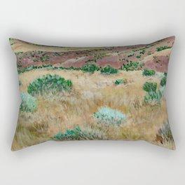 Boise foothills acrylic painting Rectangular Pillow