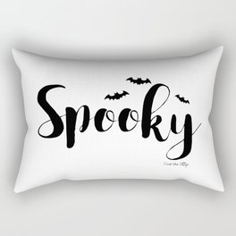 Spooky Black and White Rectangular Pillow