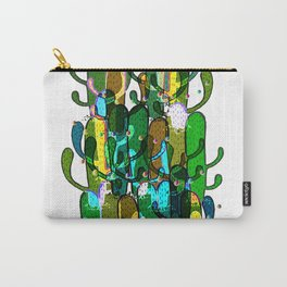 Cactus and Pom Poms Carry-All Pouch