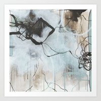 Static and Storm - Square Abstract Expressionism Art Print