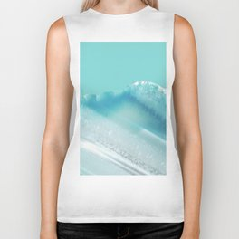 Geode Crystal Turquoise Blue Biker Tank