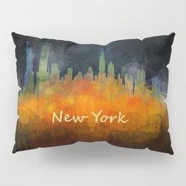New York City Skyline Hq V04 Pillow Sham