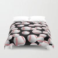 baseball Duvet Covers featuring Baseball by joanfriends