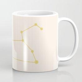 Leo Zodiac Constellation Golden Coffee Mug