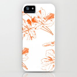 leaves print iPhone Case