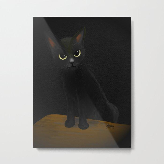 Dark and black Metal Print