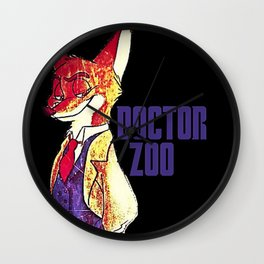 """Doctor Zoo: """"Zootopia""""/""""Doctor Who"""" Crossover Wall Clock"""