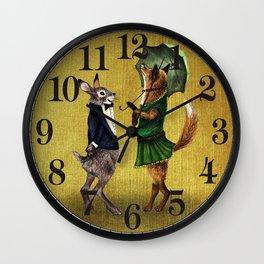 Fox and Hare Wall Clock