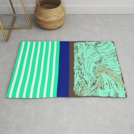 Marble, Teal and Navy Vignette Rug