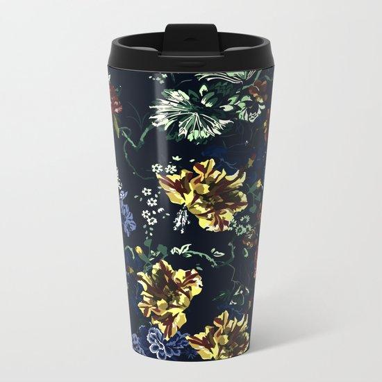 Botanical Dark Garden Metal Travel Mug