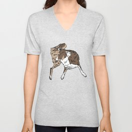 Dog Lover (Brown, White, & Tan Australian Shepherd) Unisex V-Neck