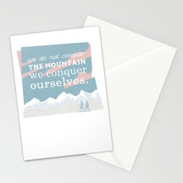 We conquer ourselves Stationery Cards