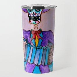 Mexican Jugador del Acordeon Dia de Los Muertos Painting Travel Mug