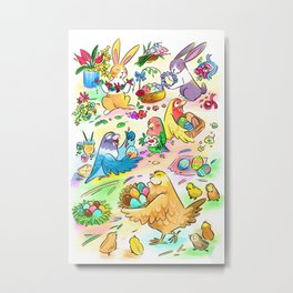 Easter egg party Metal Print