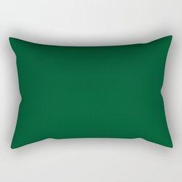 Forest green (traditional) Rectangular Pillow