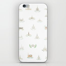 LDS Temples iPhone Skin