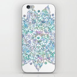 Mermaid Dreams Mandala on White iPhone Skin