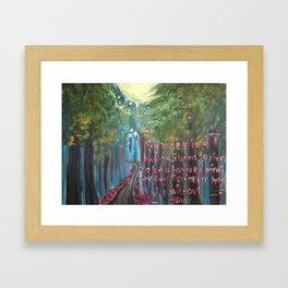 ethereal trail Framed Art Print