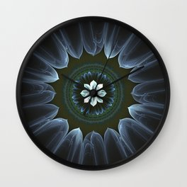 Blossom Within in White Wall Clock
