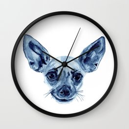 Chihuahua in Indigo Wall Clock