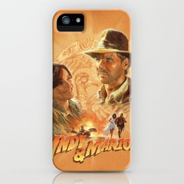 Indy with Marion iPhone Case