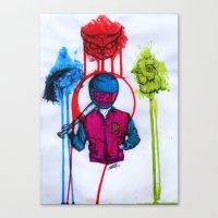hotline miami Canvas Prints featuring hotline miami art by Jacks broken art