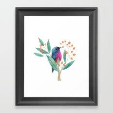 Rose-Bellied Bunting Framed Art Print