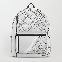 The Hague Light City Map Backpack